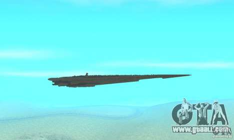 Executor Class Stardestroyer for GTA San Andreas inner view