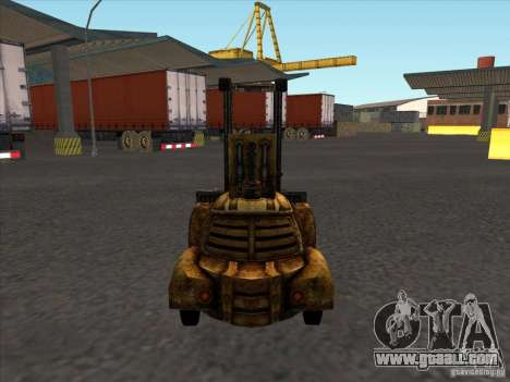 Forklift from the TimeShift for GTA San Andreas back left view