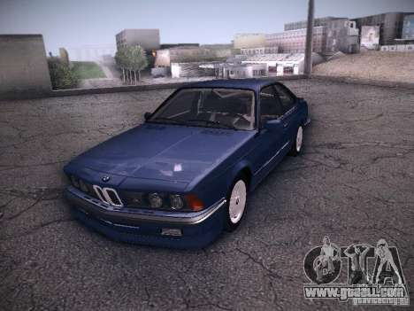 BMW E24 M635CSi 1984 for GTA San Andreas