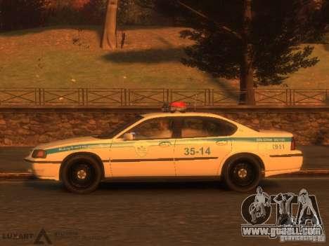 Chevrolet Impala Police 2003 for GTA 4 back left view