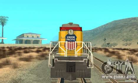 RS3 Diesel Locomotive Union Pacific for GTA San Andreas left view