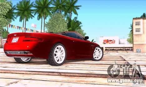 Aston Martin DB9 for GTA San Andreas back left view
