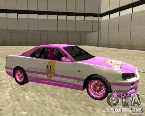 Nissan Skyline R34 Mr.SpaT for GTA San Andreas