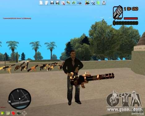 Smalls Chrome Gold Guns Pack for GTA San Andreas ninth screenshot