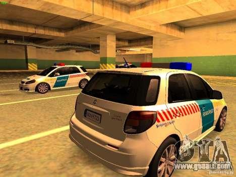 Suzuki SX-4 Hungary Police for GTA San Andreas left view