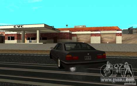 BMW 525 (E34) for GTA San Andreas back left view