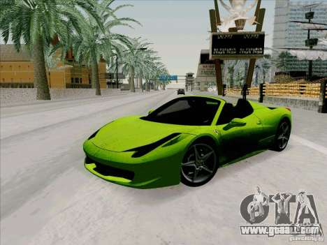 Ferrari 458 Spider for GTA San Andreas
