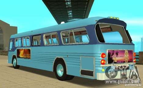 GMC Fishbowl City Bus 1976 for GTA San Andreas back left view
