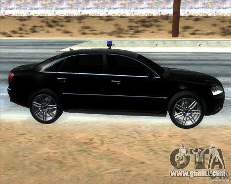Audi A8L W12 for GTA San Andreas left view