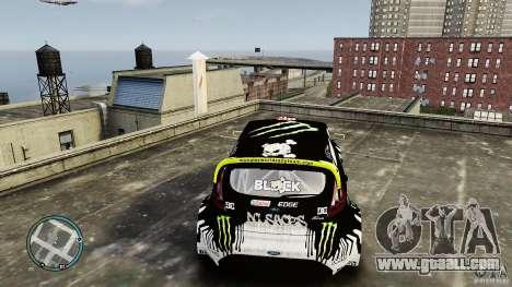 Ken Block Ford Fiesta 2011 for GTA 4 back view