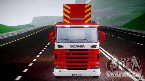 Scania R580 Fire ladder PK106 for GTA 4 upper view