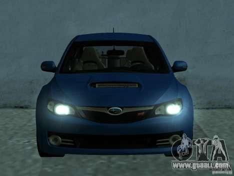 Subaru Imreza WRX for GTA San Andreas left view