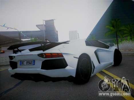 Lamborghini Aventador LP700-4 Roadstar for GTA San Andreas left view