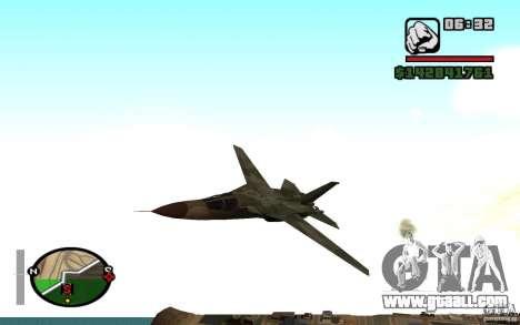 F-111 Aardvark for GTA San Andreas