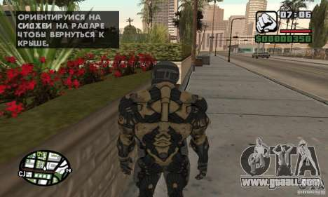 Crysis skin for GTA San Andreas third screenshot