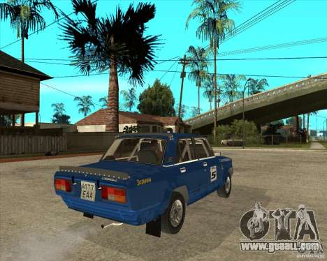 LADA 2105 VFTS rally for GTA San Andreas back left view