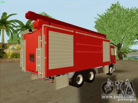 Mercedes Benz Actros Bomberos C1 for GTA San Andreas back left view