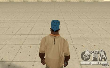 Bandana blue maryshuana for GTA San Andreas third screenshot