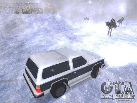Snow MOD HQ V2.0 for GTA San Andreas ninth screenshot