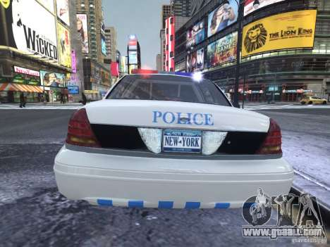 Ford Crown Victoria Homeland Security for GTA 4 right view