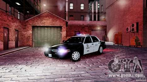 Ford Crown Victoria CVPI-K9 V6.9A-LAPD-ELS for GTA 4