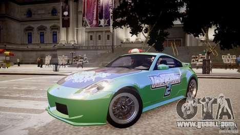 Nissan 350Z Underground 2 Style for GTA 4