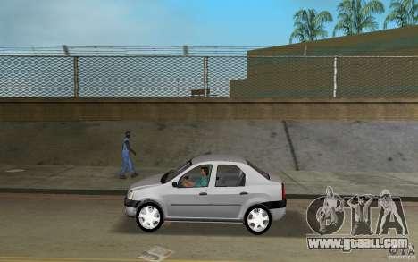 Dacia Logan 1.6 MPI for GTA Vice City left view