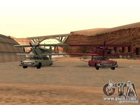 Car-plane for GTA San Andreas back view