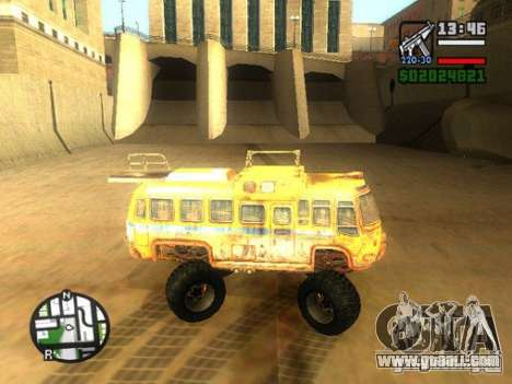 Bullet Storm Bus for GTA San Andreas left view