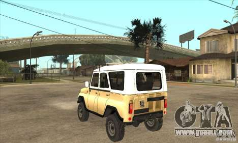 UAZ 31514 for GTA San Andreas back left view