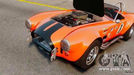 AC Cobra 427 for GTA 4 back view