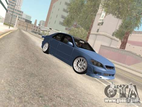 Lexus IS300 HellaFlush for GTA San Andreas upper view