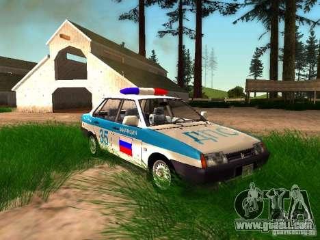 VAZ 2109 Police for GTA San Andreas interior