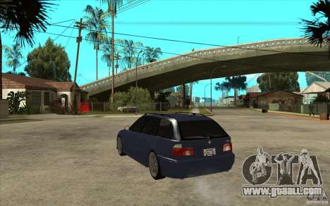 BMW M5 E39 530tdi Touring for GTA San Andreas back left view
