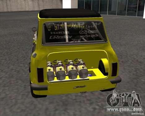 Mini Cooper S Titan Motorsports for GTA San Andreas back left view