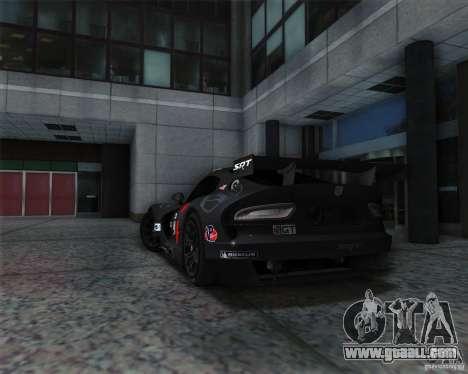 SRT Viper GTS-R V1.0 for GTA San Andreas right view