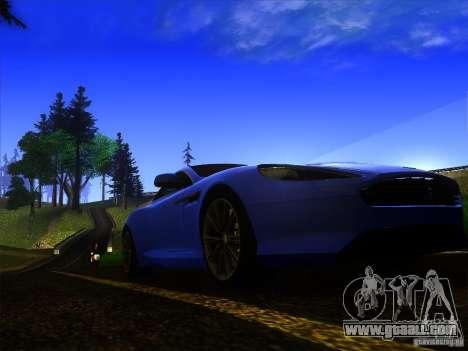 Aston Martin Virage 2011 Final for GTA San Andreas inner view