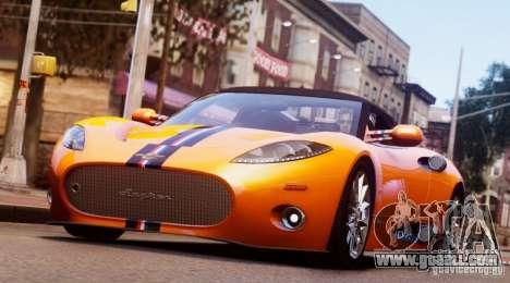 Spyker C8 Aileron Spyder Final for GTA 4