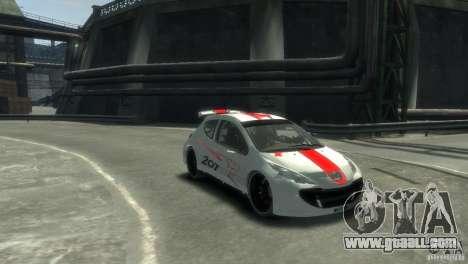 Peugeot 207 for GTA 4 back left view