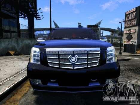 Cadillac Escalade v3 for GTA 4 back view