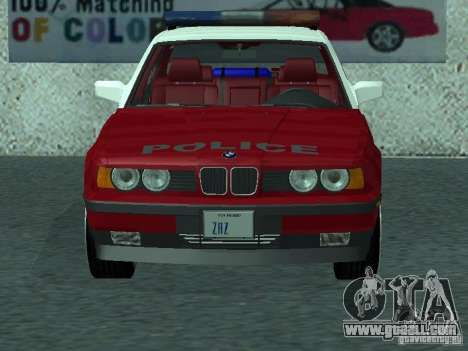 BMW 535i E34 Police for GTA San Andreas left view