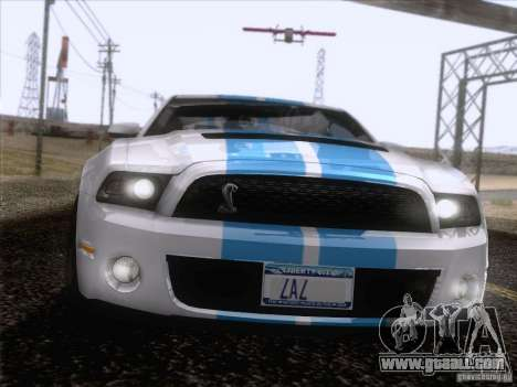 Ford Shelby Mustang GT500 2010 for GTA San Andreas interior