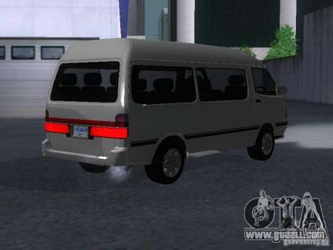 Toyota Hiace Super Custom for GTA San Andreas back left view