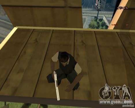 Chrome Desert Eagle for GTA San Andreas fifth screenshot