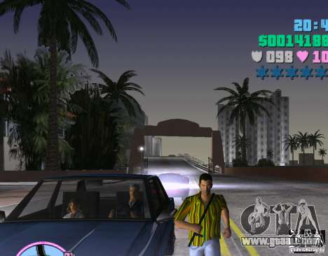Hawaiian shirt stripes. for GTA Vice City second screenshot