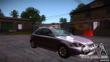 Honda Civic Tuneable for GTA San Andreas back view