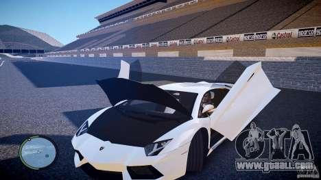 Lamborghini Aventador LP 700-4 for GTA 4 inner view