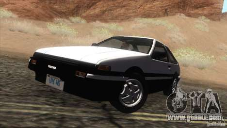 Toyota Sprinter Trueno AE86 GT-Apex for GTA San Andreas back left view
