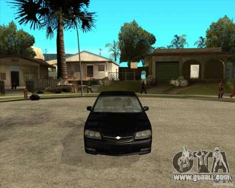 2003 Chevrolet Impala SS for GTA San Andreas back view