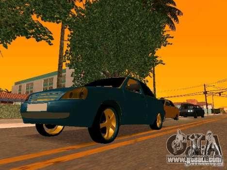 LADA 2170 Priora Gold Edition for GTA San Andreas interior